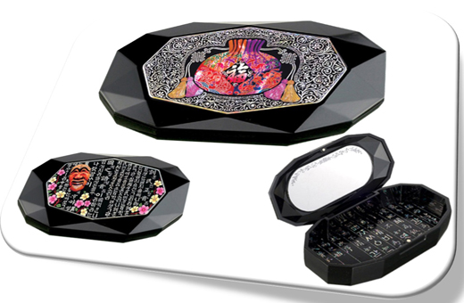 Korean Traditional Fortune Pouch mother-of-pearl mini jewelry box 복주머니 천연자개 미니 보석함