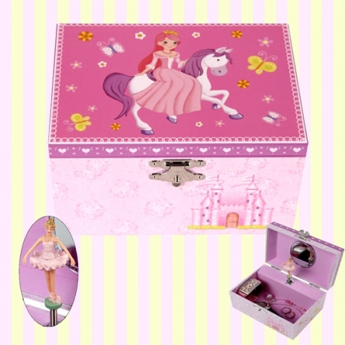 Princess riding a white horse musical jewelry box(S) 백마탄공주 오르골 보석함(소)