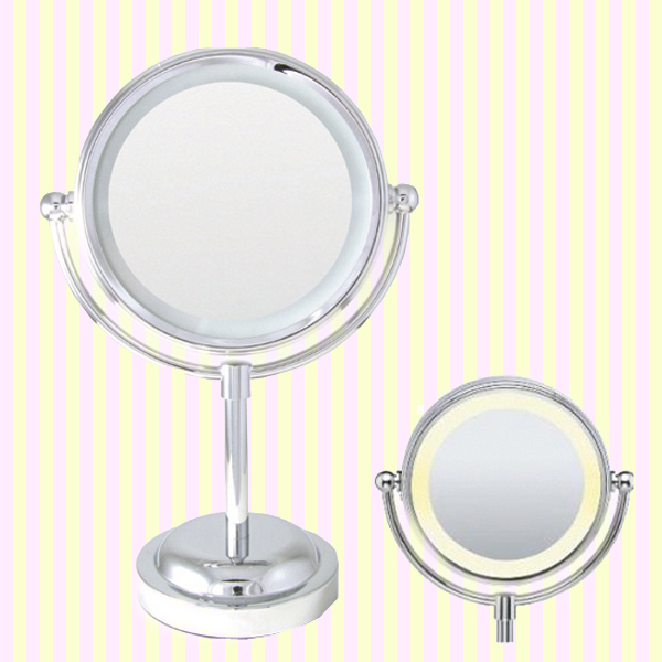 LED lighted makeup mirror with magnifier(M) Led 라이트 원형 탁상거울(중)