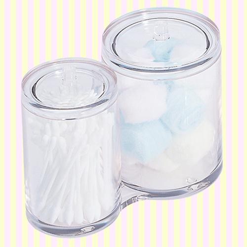 Round cotton ball & swab bowl 원형 화장솜통 면봉통