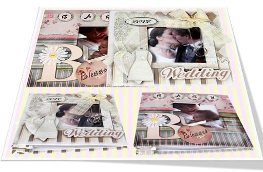 Vintage Style Wedding Mini Album/빈티지 스타일 웨딩 미니앨범