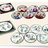 Korean Traditional Artwork Coaster(1set)/Korean souvenir gifts 한국 민속 코스타셋