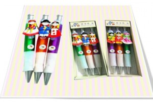 Korean folk figure colormix ball point pens(3pcs) 칼라믹스 볼펜(3개묶음)