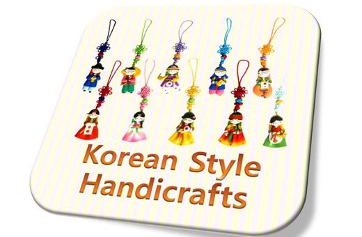 Korean Folk Figure Colormix Phone Strings(10pcs) 칼라믹스 핸드폰줄(10개묶음)