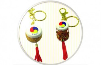Korean Traditional Miniature Drum Key Ring(10pcs)/Korean souvenir gifts 한국 전통 장구+북 열쇠고리(10개묶음)
