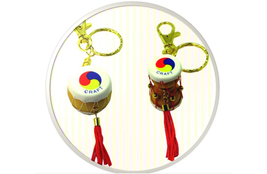 Korean Traditional Miniature Drum Key Ring(10pcs)/Korean souvenir gifts 한국 전통 장구+북 열쇠고리(10개묶음)