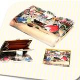 Korean Folk Art Leather Tick-tock Wallet (M)한국 민속 후렌치지갑 (중)
