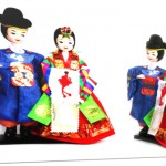 Korean traditional figure wedding couple doll