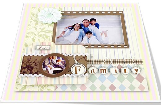 Vintage Style Family Photo Frame/빈티지 스타일 패밀리 액자
