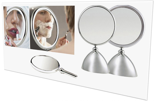 Henings Shiny Beauty Makeup Mirror(M) with 2x magnifier 헤닝스 뷰티 거울(중)