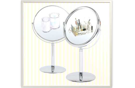 Shiny Two-sided Round Makeup Mirror(L) with 2x magnifier 샤이니 양면거울(대)