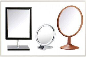 Henings Wooden Rectangle Makeup Mirror(Big) 헤닝스 우드 사각거울(블랙/빅사이즈)