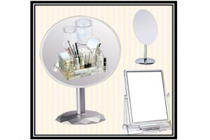 Frameless Artistic Round Table Mirror(Big size)    샤이니 아트 원거울(빅사이즈)