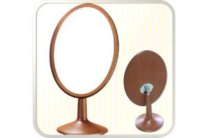 Henings Wooden Oval Makeup Mirror(Big) 헤닝스 우드 타원거울(빅사이즈)