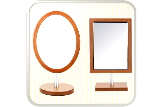 Henings Wooden Oval Makeup Mirror(M) 헤닝스 우드 타원거울(중)