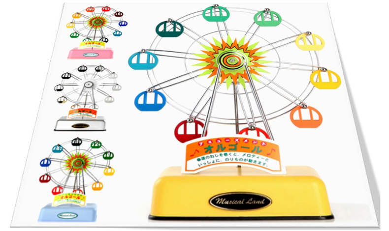 Musical Land Ferris wheel Music Box 뮤지컬랜드 관람차 오르골