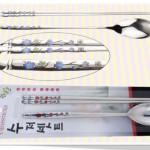 Blue Plum Blossom Spoon & Chopstick Set 청매화 숟가락 젓가락셋