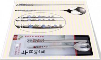 Blue/Red plum blossom Spoon & Chopstick Set 청매화/홍매화 숟가락 수저 젓가락셋