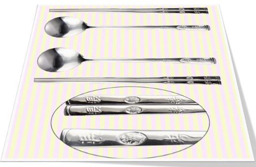 Longevity Turtle spoon & chopsticks set (2 pairs)  장수거북 숟가락 젓가락셋(2쌍)