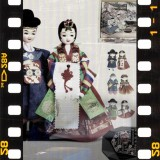 Korean Figure Wedding Couple Doll in traditional costume 한국 전통 신랑.신부 쌍인형