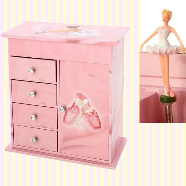 Ballerina necklace musical jewelry box 발레리나 4단 목걸이 오르골 보석함