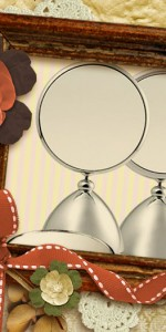 Fun Henings Shiny Beauty Makeup Mirror(M) with 2x magnifier 헤닝스 뷰티 거울(중)