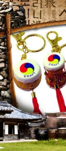 Korean Traditional Miniature Drum Key Ring(10pcs) 한국 전통 장구+북 열쇠고리(10개묶음)