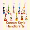 Korean Folk Figure Colormix Phone Strings(10pcs) 칼라믹스 핸드폰줄(10개묶음)