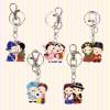 Korean Traditional Metal Couple Key Rings(5pcs) 한국 민속 메탈 커플 열쇠고리(5개묶음)