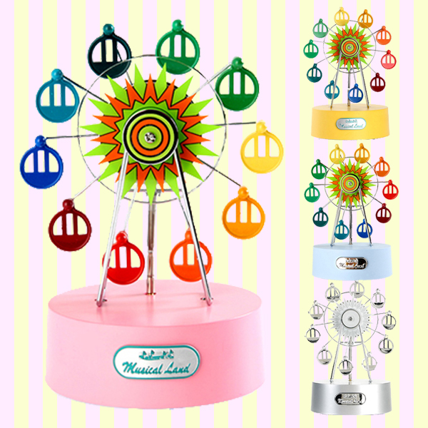 Musical Land Mini Ferris wheel Music Box, windup orgel, 뮤지컬랜드 미니 페리휠 관람차 오르골