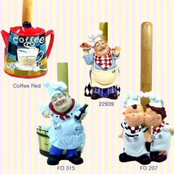 Chef/coffee pot Paper Towel Holder Rack Hanger 주방장/커피포트 키친타올걸이