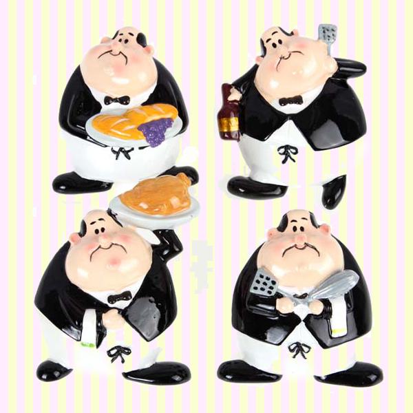 Fat Waiter Fridge Magnets (4pcs) 뚱보 웨이터 냉장고자석(4개묶음)