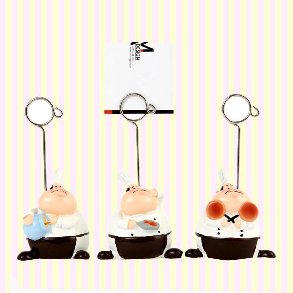 Fat Chef Memo Clip (3pcs) 뚱보 주방장 메모꽂이 (3개묶음)