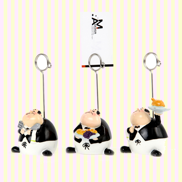 Fat Waiter Memo Clip (3pcs) 뚱보 웨이터 메모꽂이 (3개묶음)