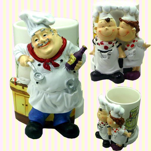 Chef Spoon Holder 주방장 수저통