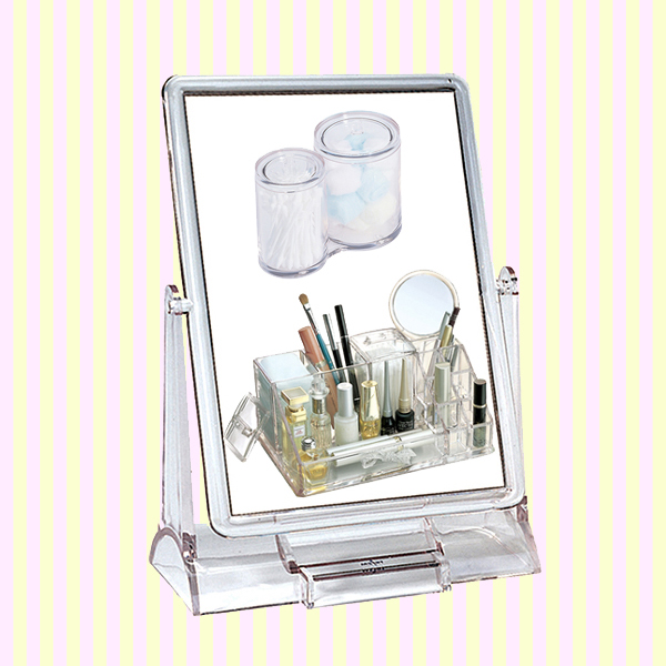 Transparent Rectangular Makeup Mirror(Big Size) 투명 사각거울(빅사이즈)