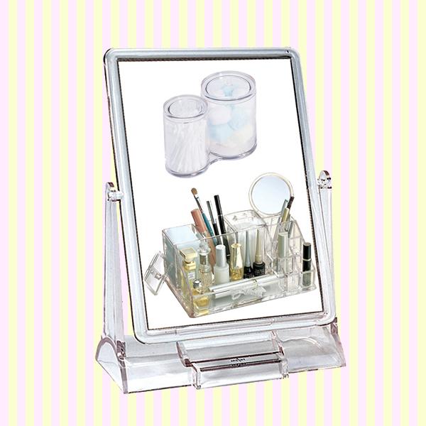 Transparent Rectangular Makeup Mirror(Big Size) 투명 사각거울(빅사이즈)