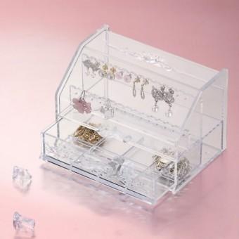 Transparent Jewelry and Accessory Organizer  투명 악세사리 정리 보석함