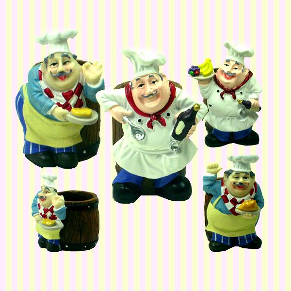 Smile Chef Toothpick Holder(4pcs) 스마일 주방장 요지통(4개묶음)