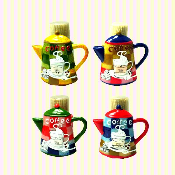 Coffee Pot Toothpick Holder(4pcs) 커피포트 주방장 요지통(4개묶음)