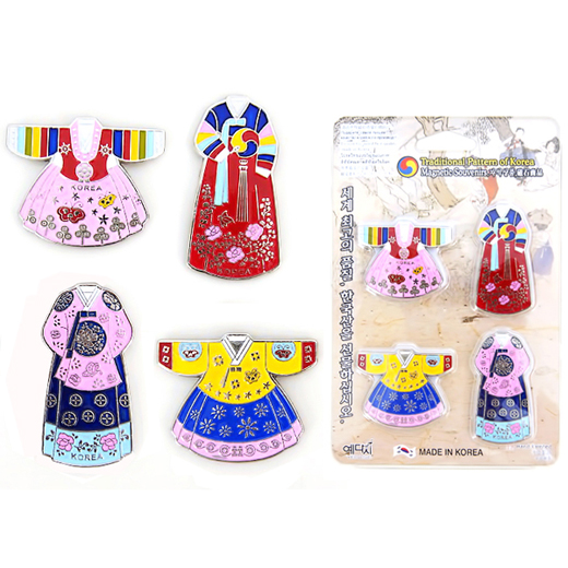 Charming and high quality fridge magnets with design of Korean traditional costume called Hanbok(한복).