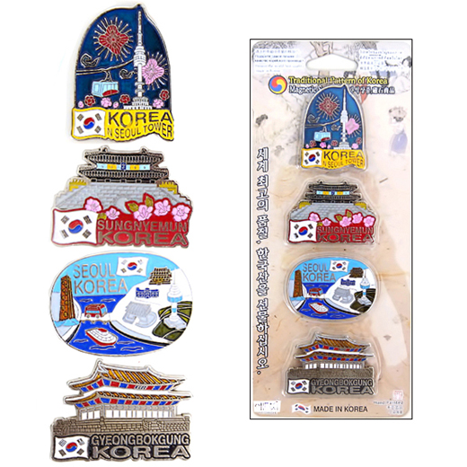 Charming and high quality fridge magnets with design of Korea tourist attractions.