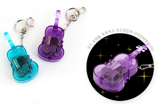 Violin shaped mechanical music box key ring, Orgel, Portable Orgel, 뮤직 바이올린 오르골 열쇠고리