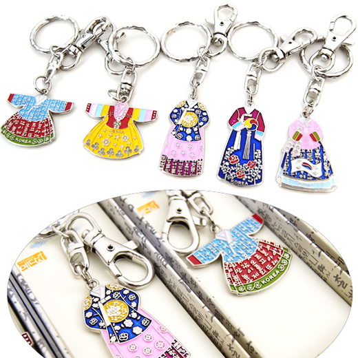 Charming and high quality keychains with design of both Korean traditional costume called Hanbok(한복) and carved Korean old language.
